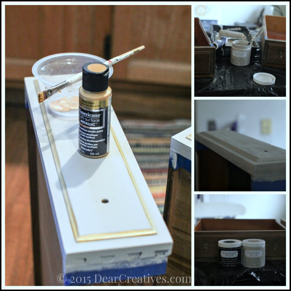 Home Decor Ideas| Painting The Drawers of the Vanity