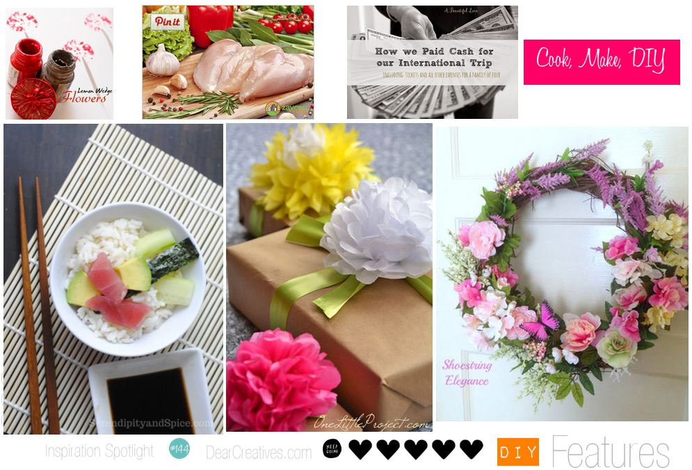 Blogging Linky Party | Inspiration Spotlight Blogging Linky party features 144 on DearCreatives