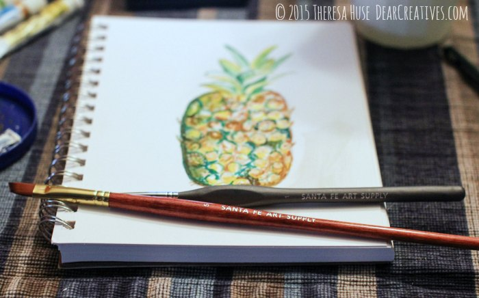Beginning of an illustration with gouache paints © 2015 DearCreatives.com