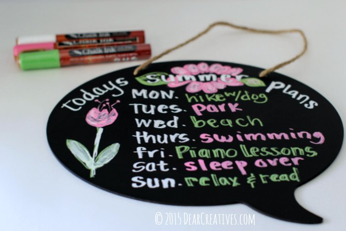 Fun and Easy Craft Ideas | Chalkboard Craft Project