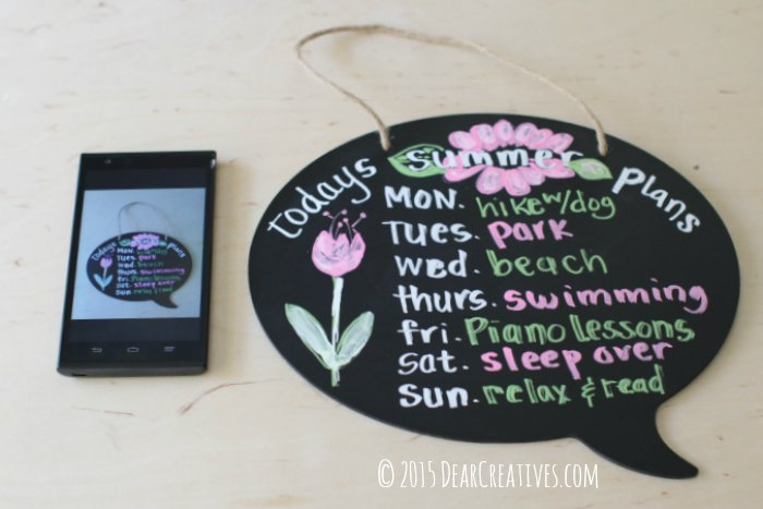 easy craft projec |Chalk Ink Speech Bubble Illustration