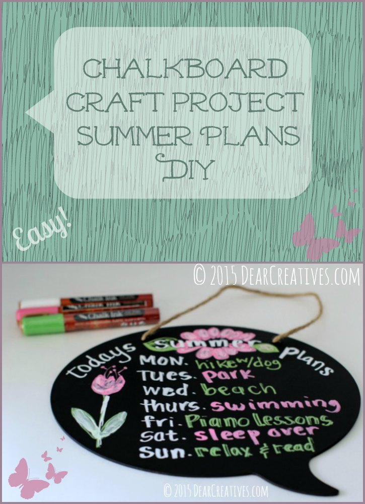 Summer Chalkboard Art – Under 30 Minute #DIY Chalk Pen Project!
