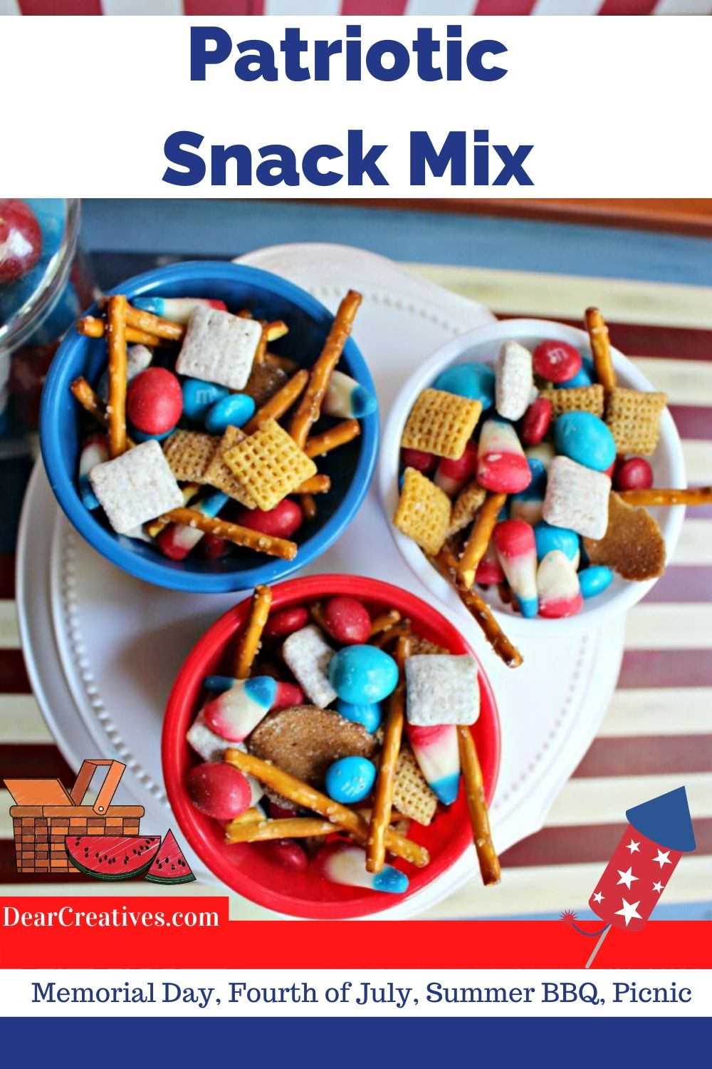 Easy Patriotic Snack Mix Dessert