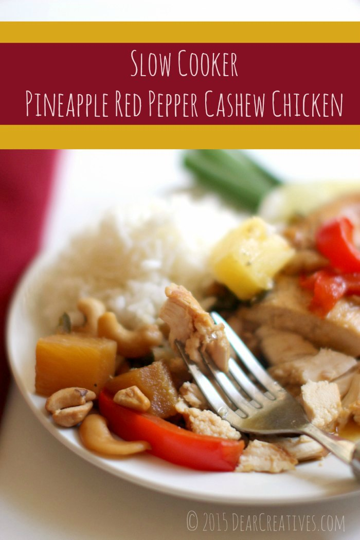 Chicken Recipes | Slow Cooker Pineapple Red Pepper Cashew Chicken