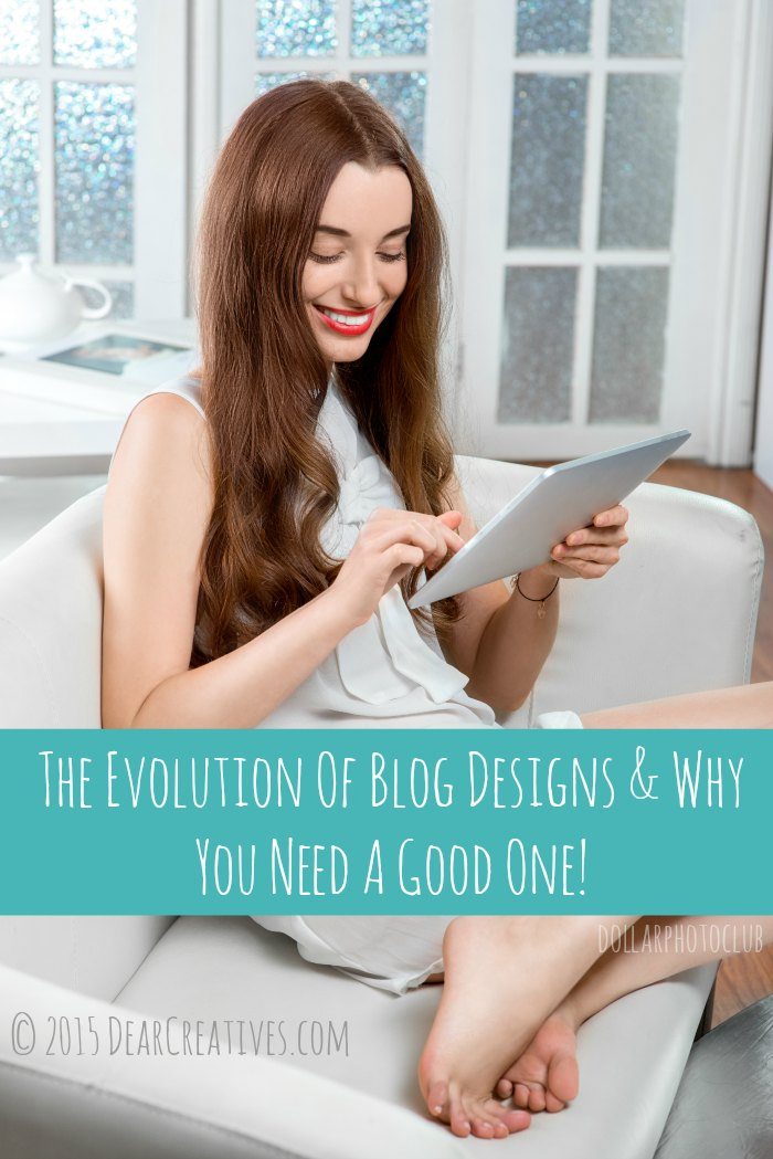 Blog Design| Need A Good One | Smiling young woman using tablet sitting on the couch at home
