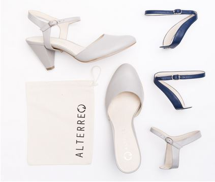 Alterre Mule Leather Shoe with straps