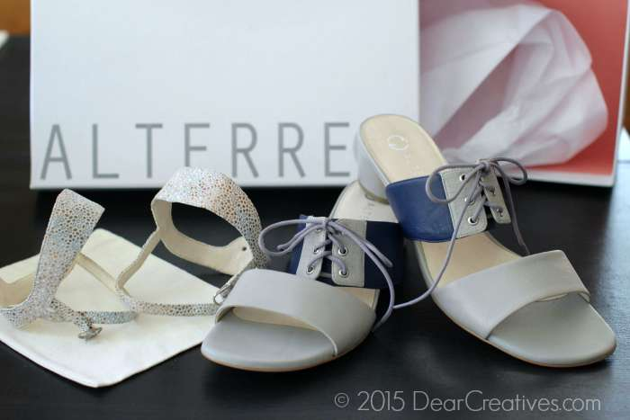 Alterre Shoes Leather sandals with inter-changable straps