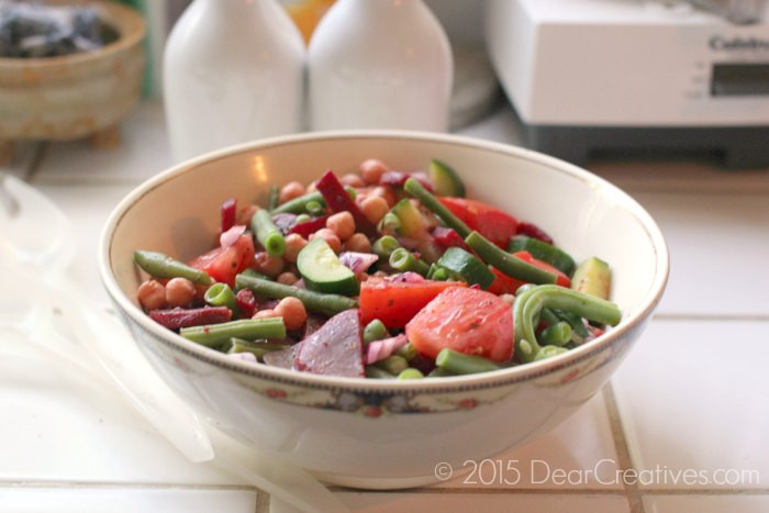 Marinated Vegetable Salad in a bowl