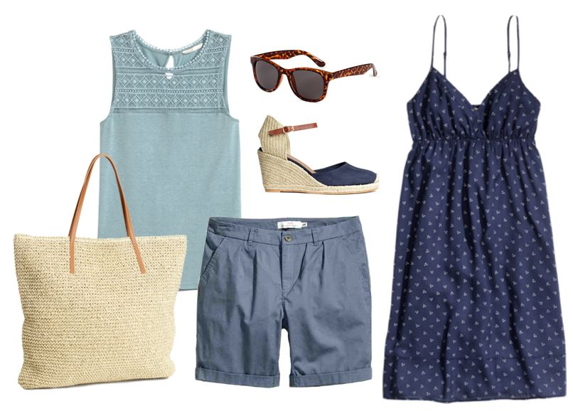 Summer Fashions style board H & M