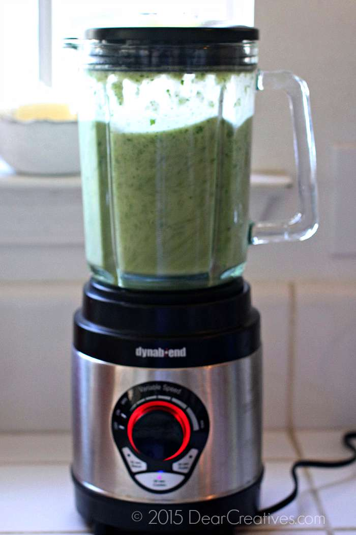 blending green enchilada sauce 3