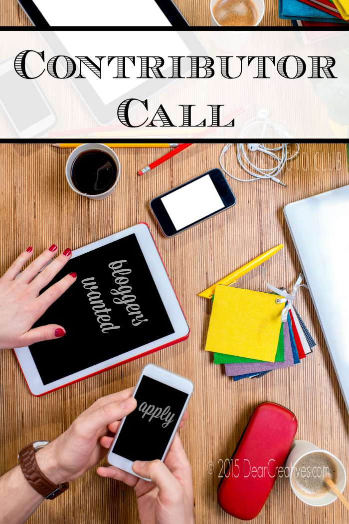 Contributor Call: Apply For  Blogger Team On Dear Creatives