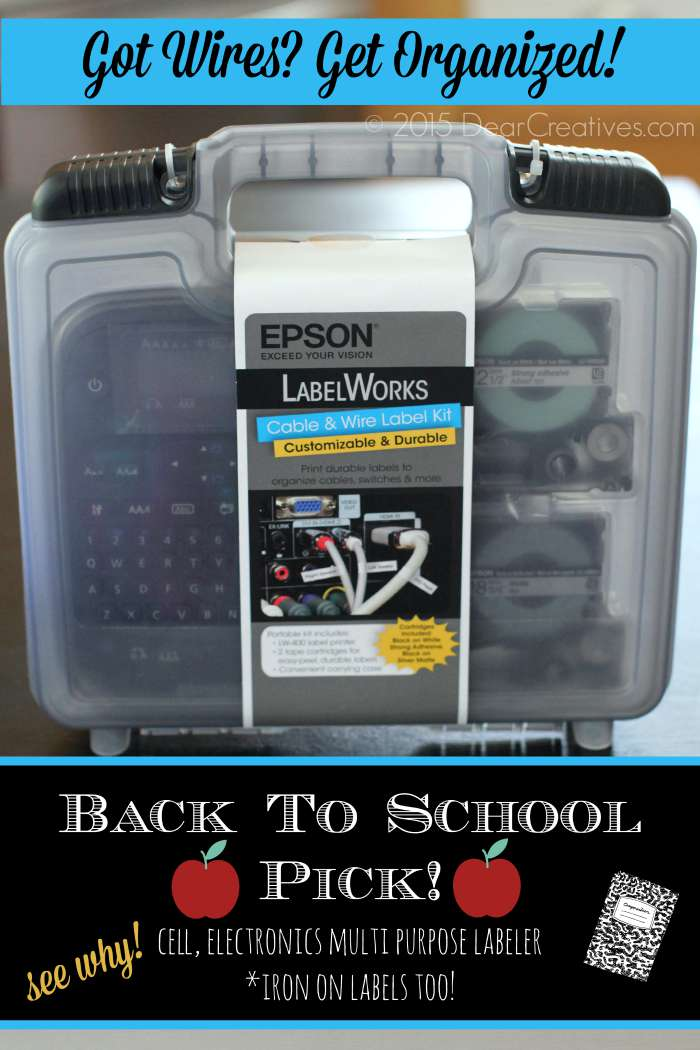 Back To School Pick! Got Wires? Got Cables? Clothes to Label? Get Organized For Good!