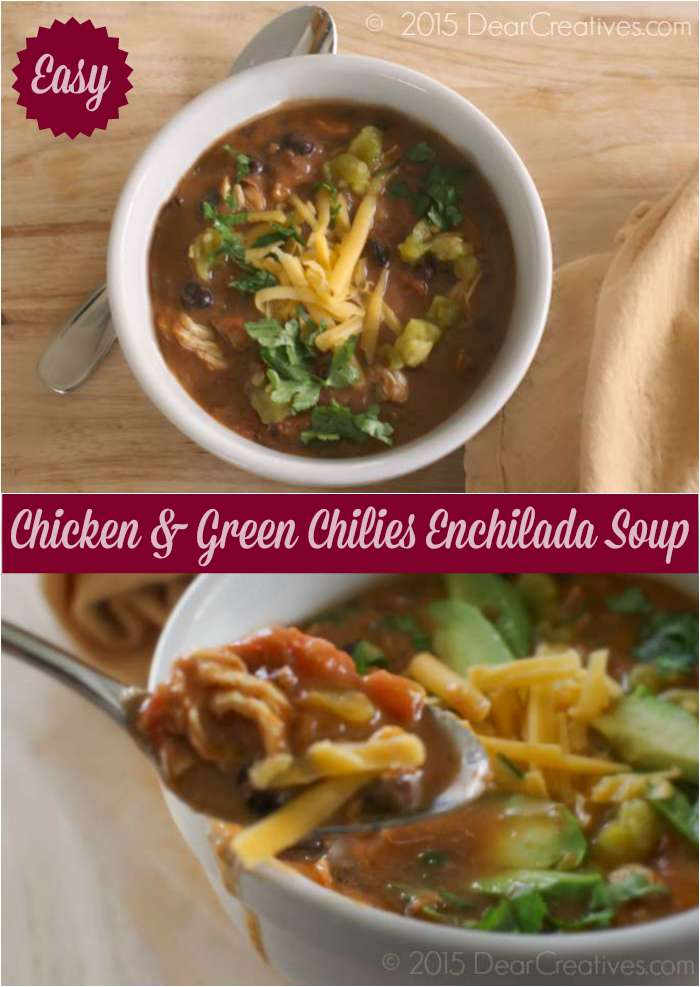 Chicken Enchilada Soup With Green Chilies