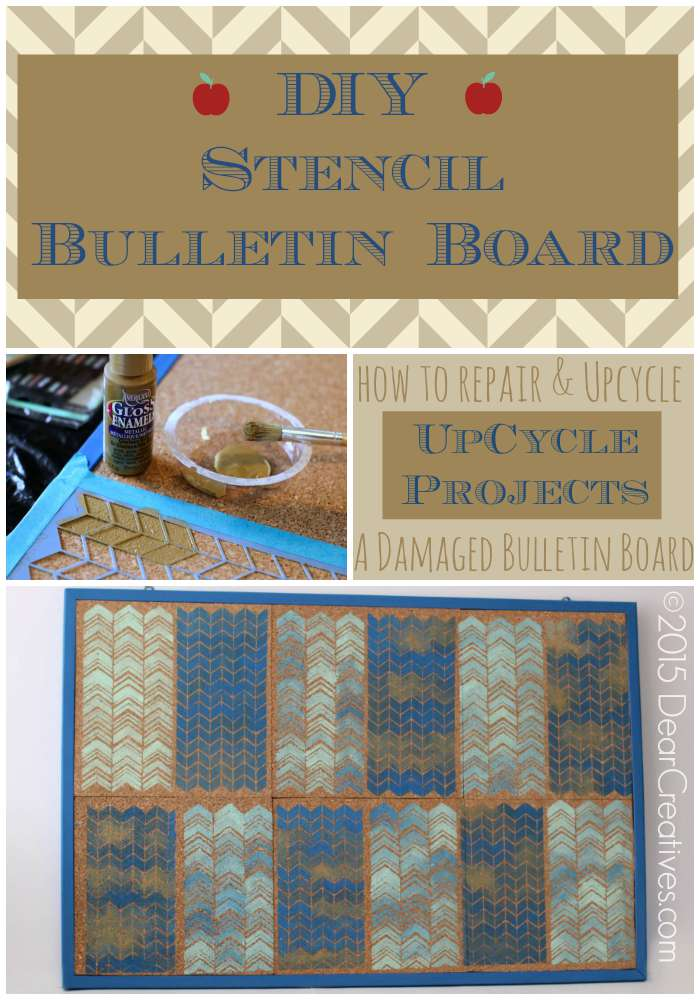 How to Make A Decorative Bulletin Board With Stencils