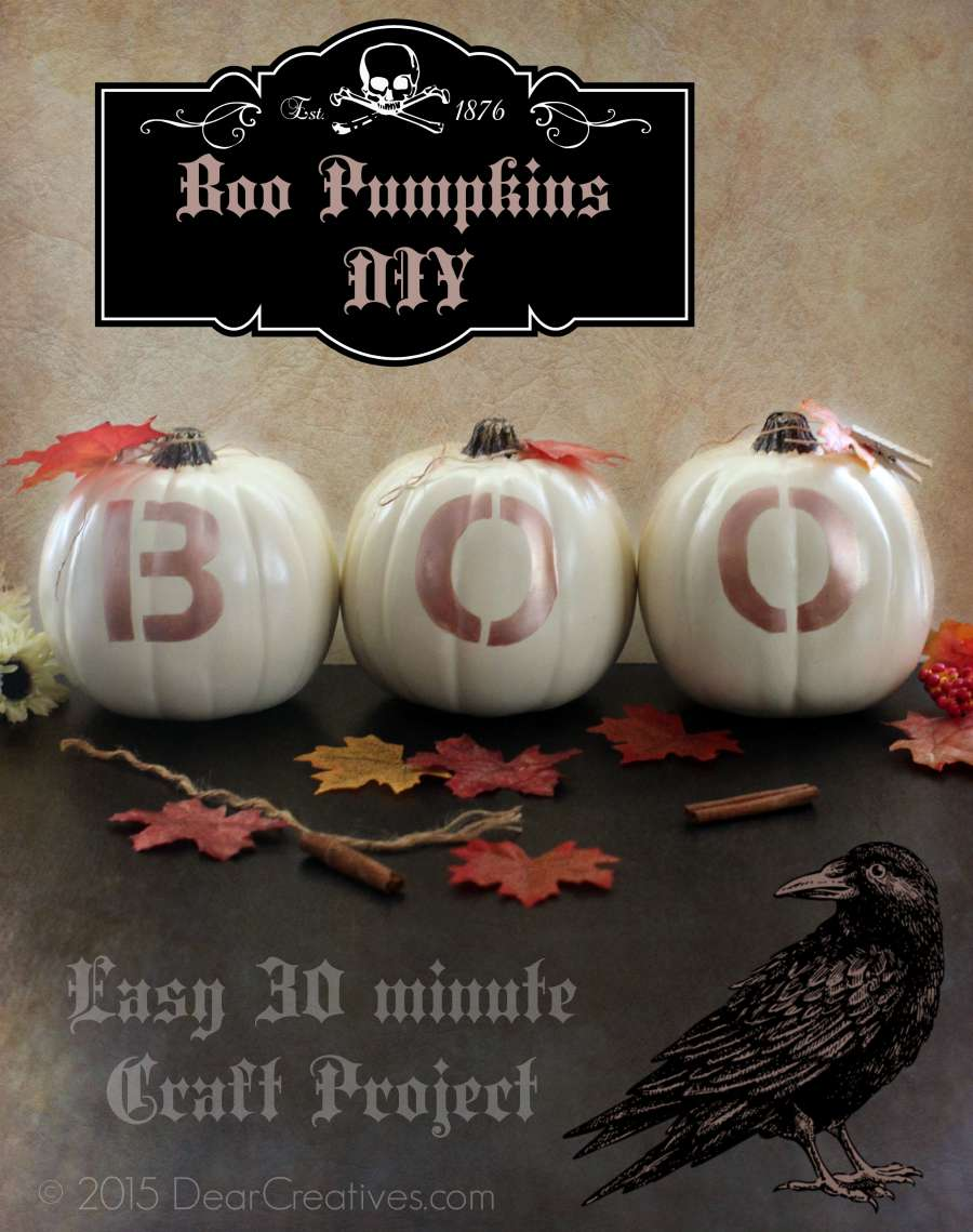 DIY Craft Projects | Stenciled BOO Pumpkins