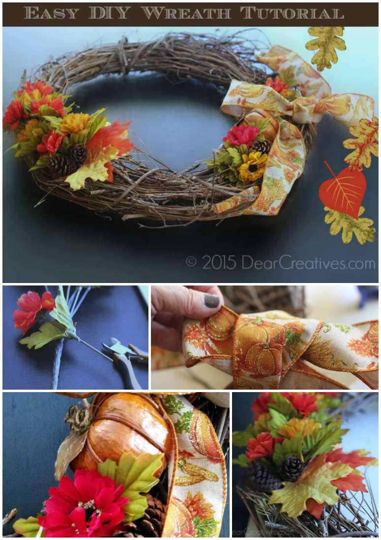 DIY Craft Projects: Easy How to Decorate A Grapevine Wreath Tutorial
