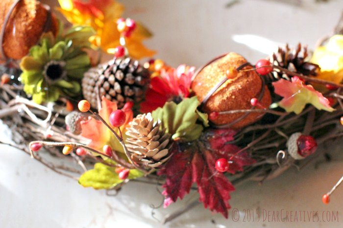 DIY Crafts Close up of Bottom of Fall Wreath