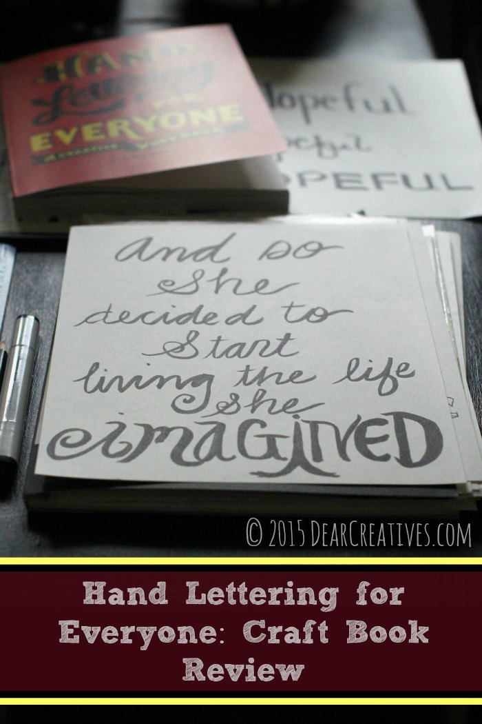 Books |Craft Book Reviews Hand Lettering For Everyone