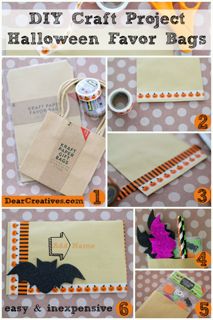 DIY Craft Projects Halloween Favor Bags