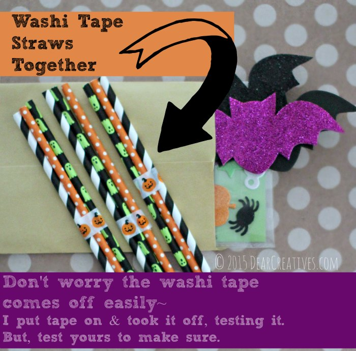 DIY Craft Projects Washi Tape Straws Together