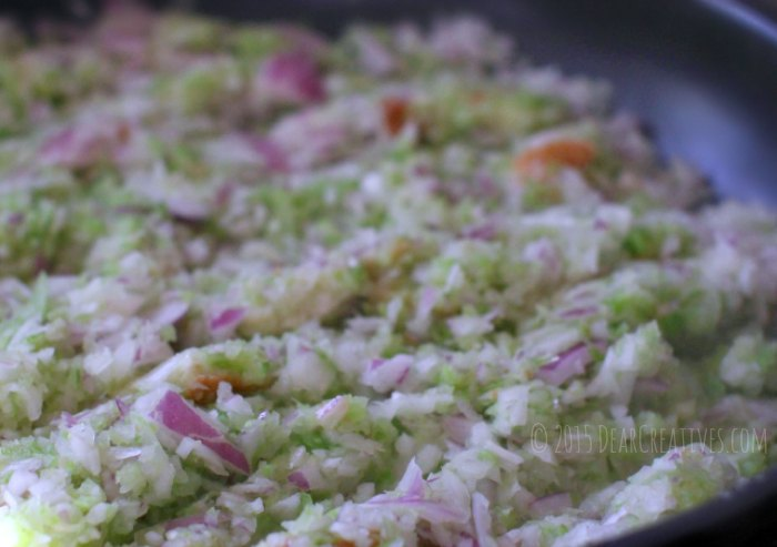 Side Dish-Chopped celery onions preparing stuffing