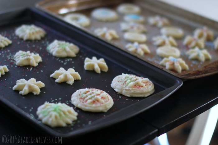 Cookies on Baking Sheets with sprinkles