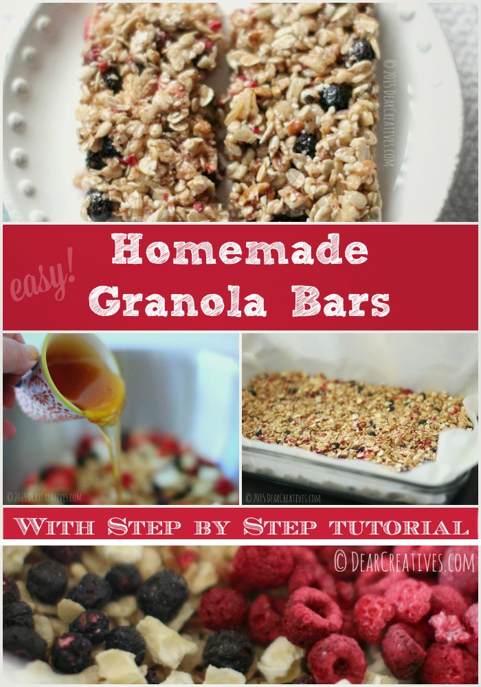 Easy Must Try! Homemade Granola Bars Recipe