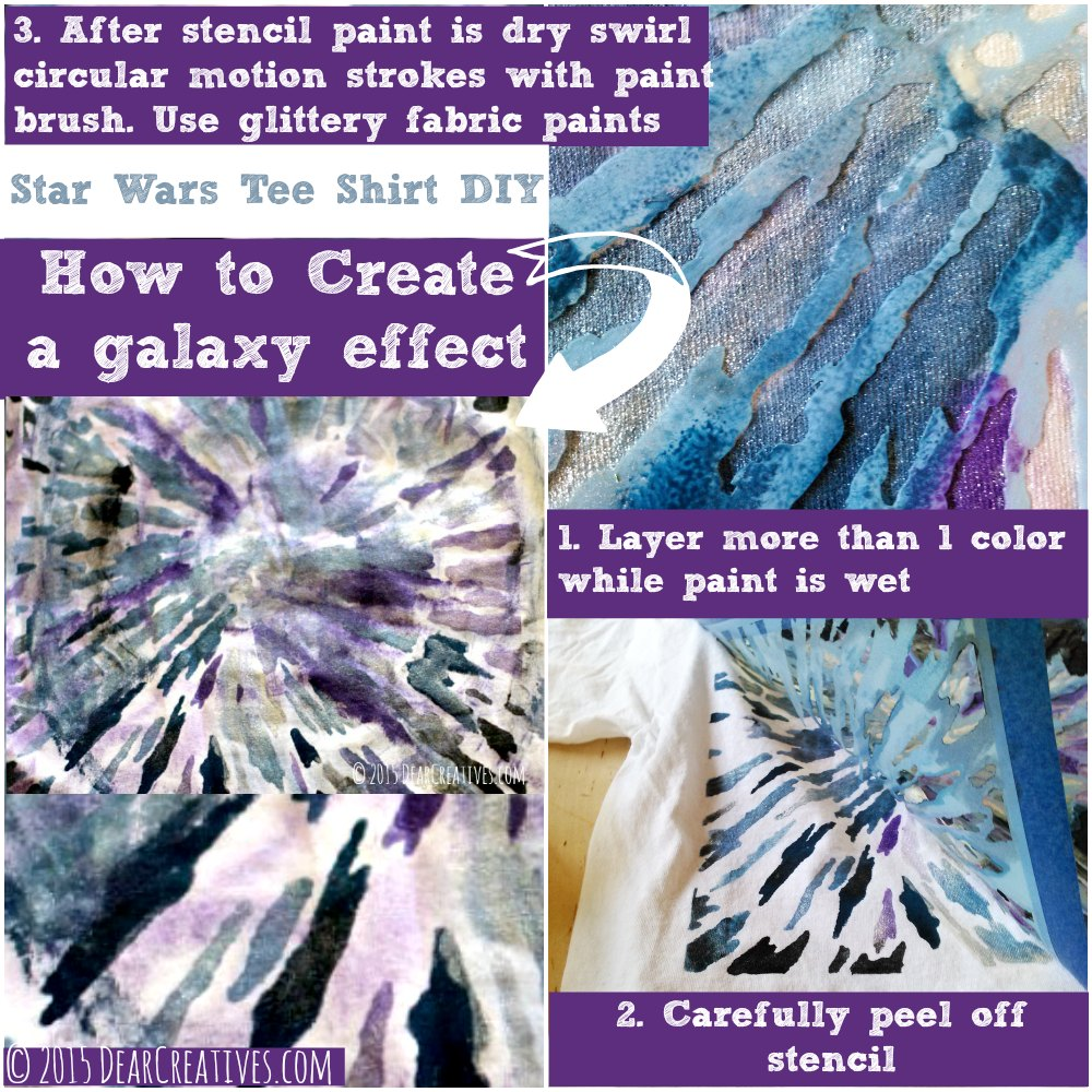 DIY Crafts |How to Make a Galaxy effect with paints Star Wars DIY