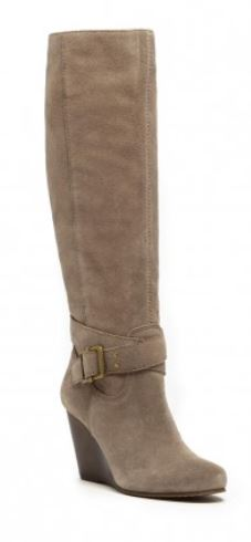 Boots for Women-Suede Wedge Boot