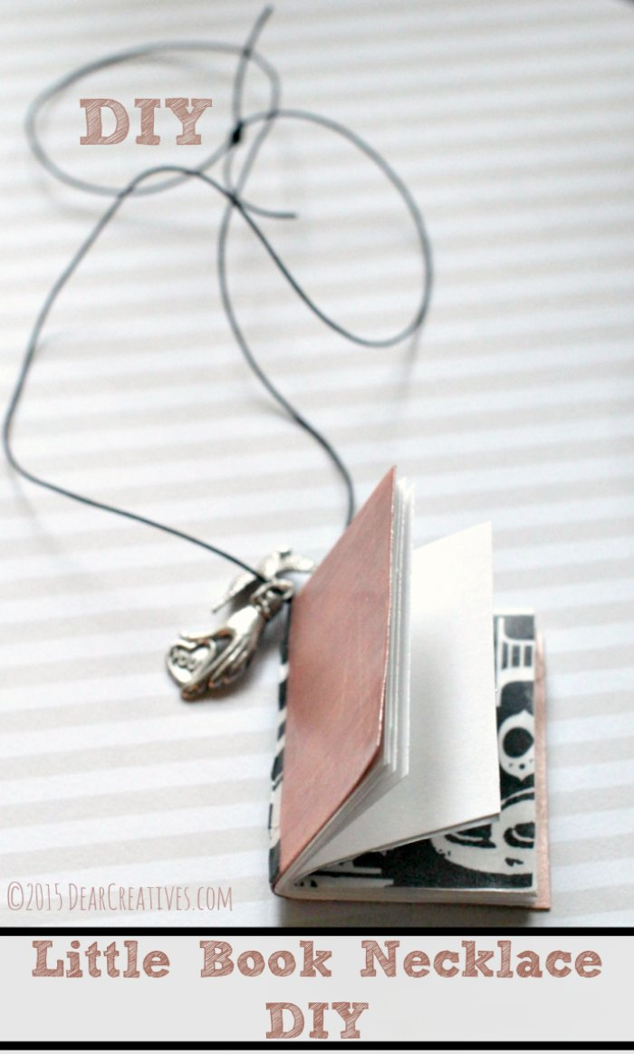 Crafts Jewelry |Book Necklace DIY