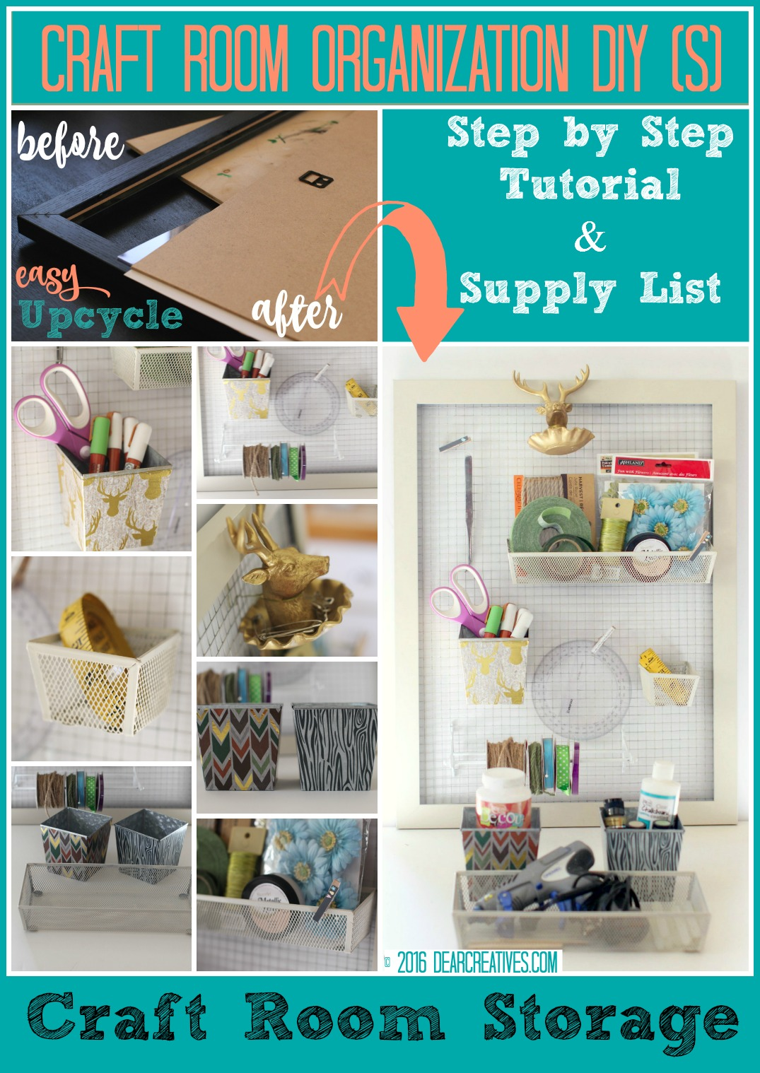 Craft Storage How To Build A Budget Friendly Wall Organizer