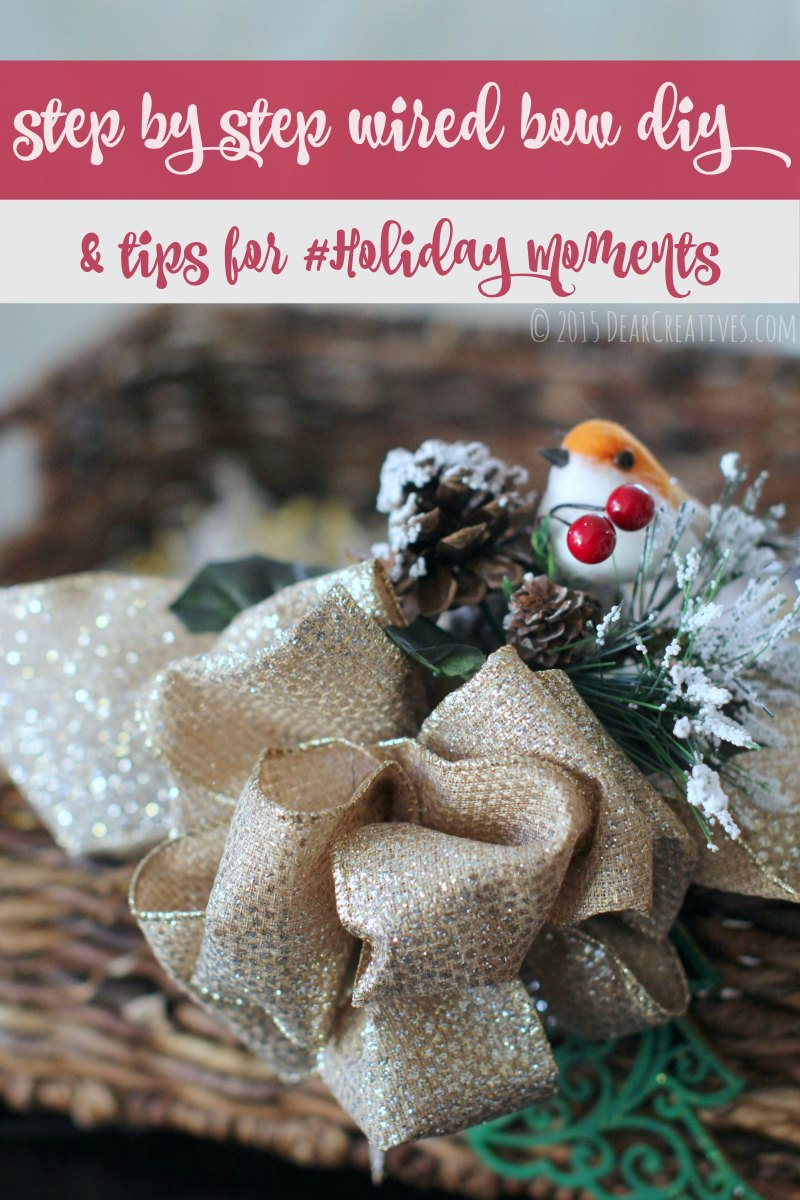 Gift Baskets – DIY: How To Make A Wired Ribbon Bow And Holiday Tips