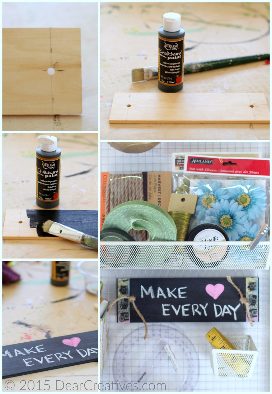 Craft Storage DIY |How to Make A Sign For Craft Storage Organizer