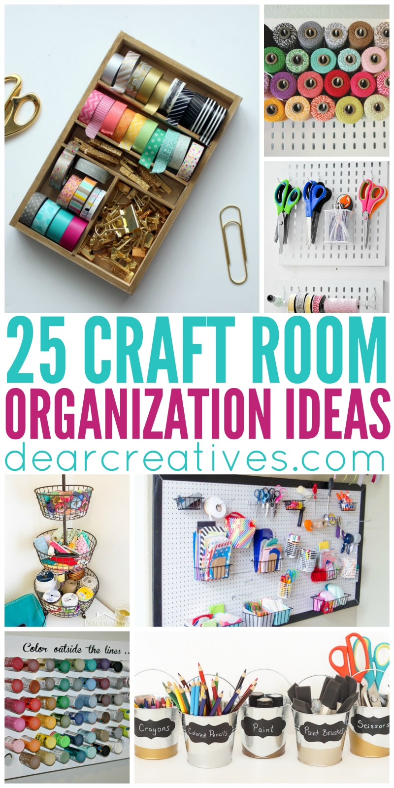 25+ Craft Room Organization Ideas