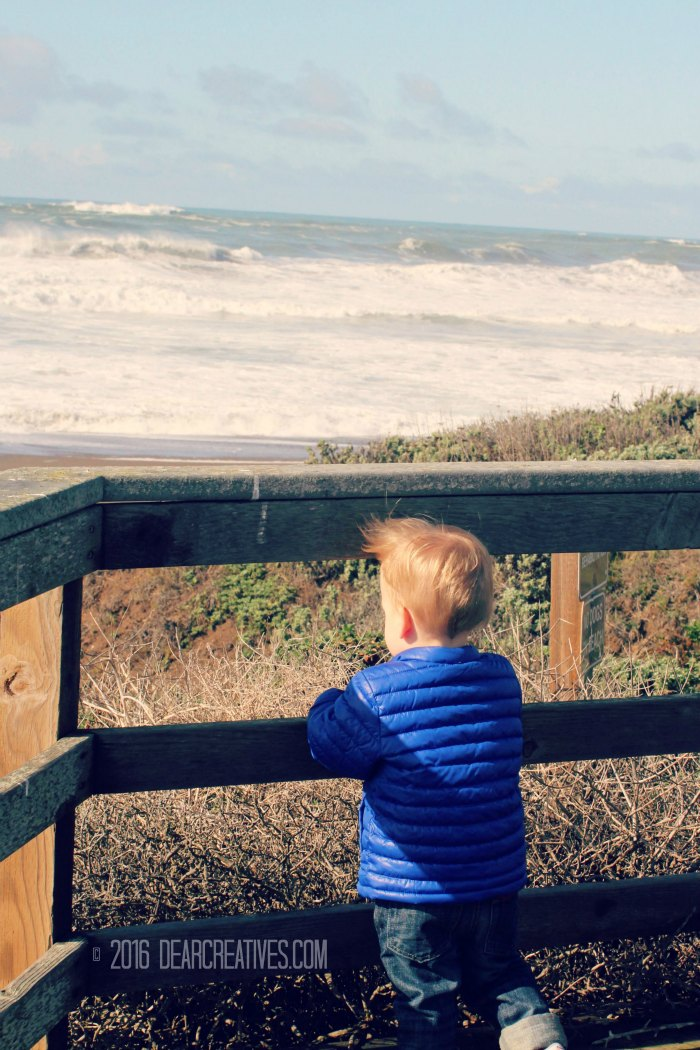 Photography | Little boy looking at the sea