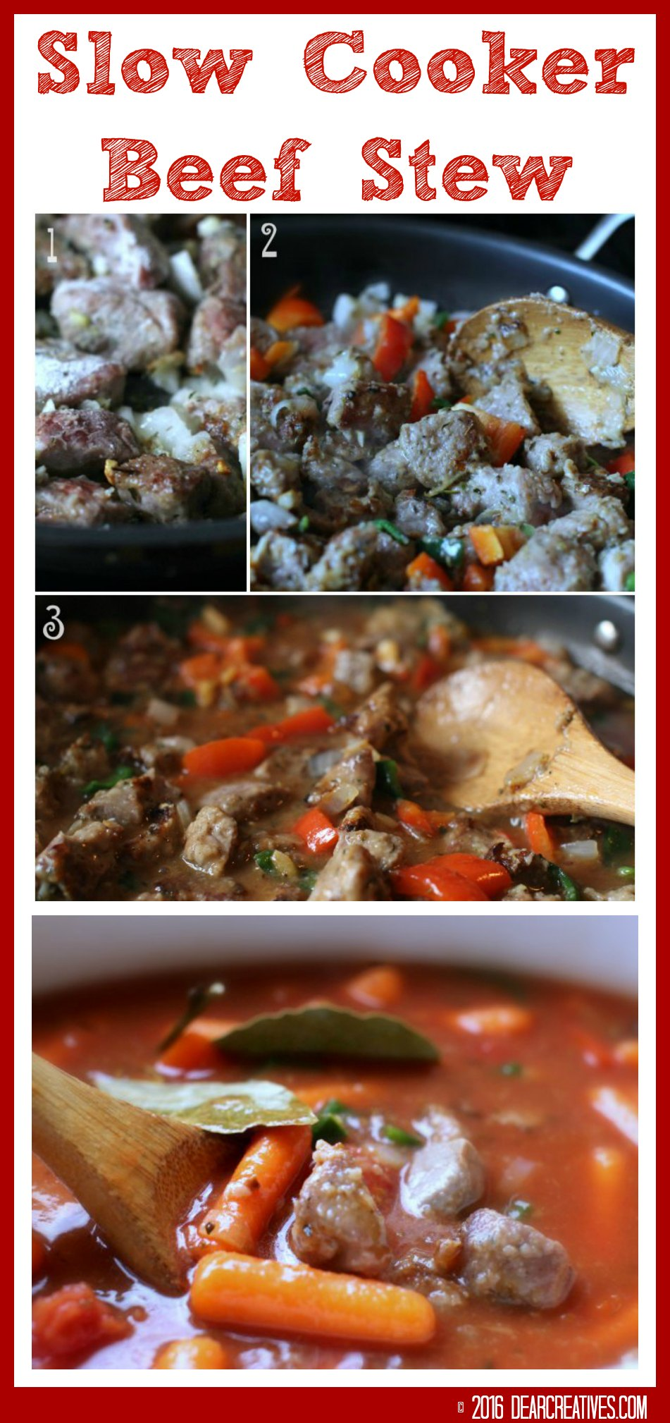 Italian Beef Stew In the Crockpot Or Slow Cooker