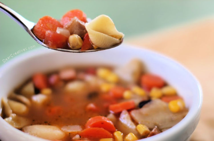Vegetable Soup Recipe with several variations to help you make soup from scratch. Grab this and more soup recipes at DearCreatives.com