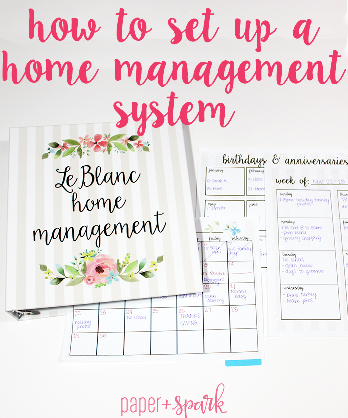 Home Management System – Get Organized for 2016