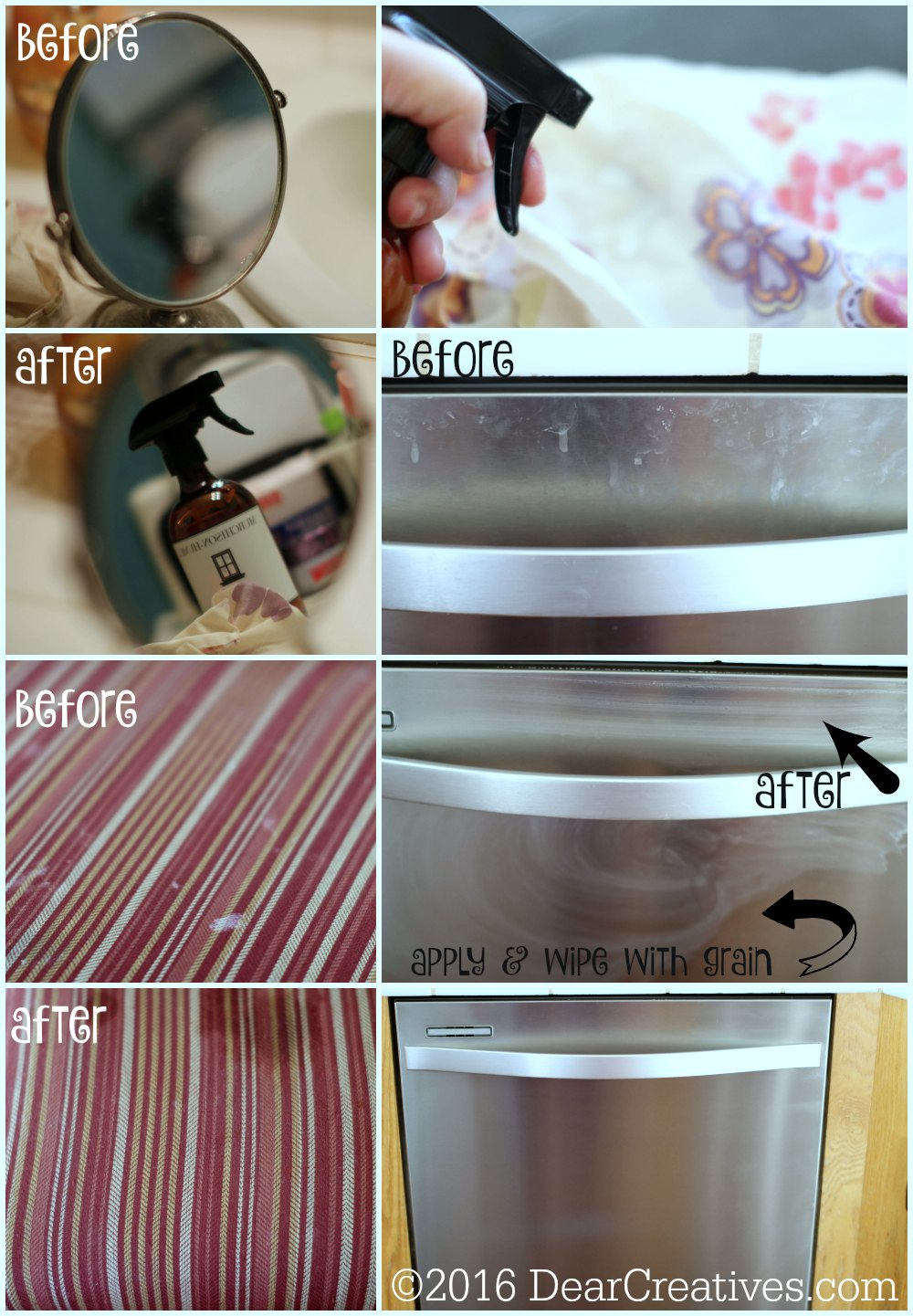 Cleaning Products | Murchison-Hume Review before and after with organic cleaning products