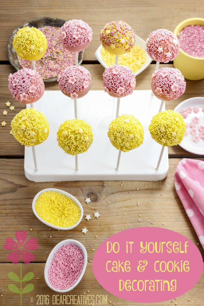 Do it Yourself |How to decorate cake pops - step by step tutorial. Party dessert