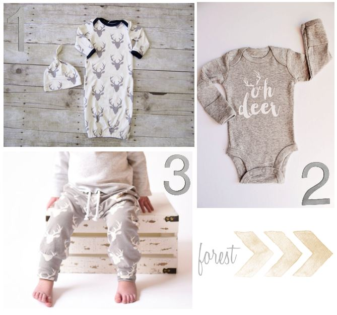 Forest baby and toddler clothing