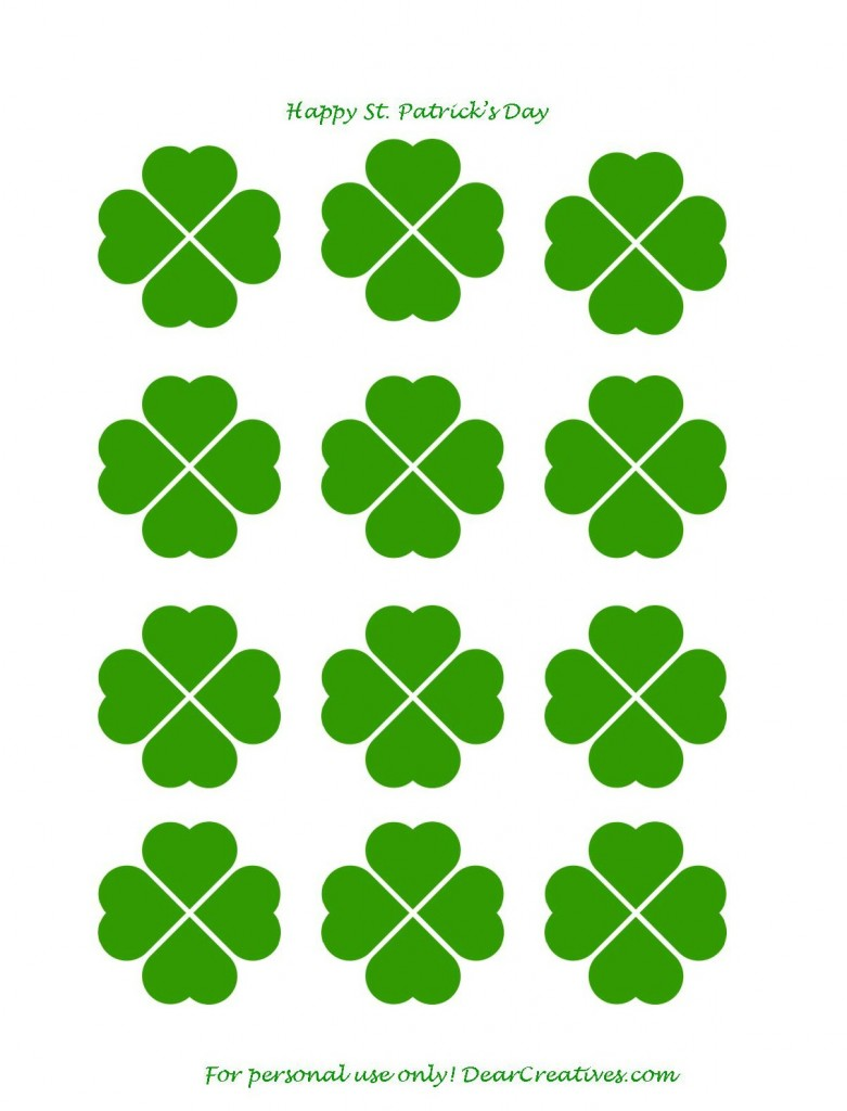 St. Patrick's Day Free Printable Clovers