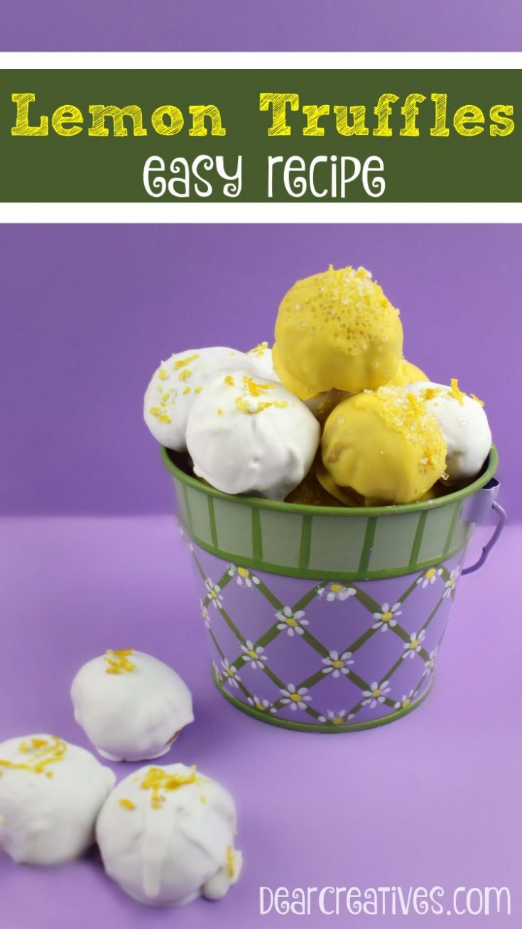 Lemon Truffles You'll love this Homemade Candy Recipe for Truffles This is an easy treat recipe.