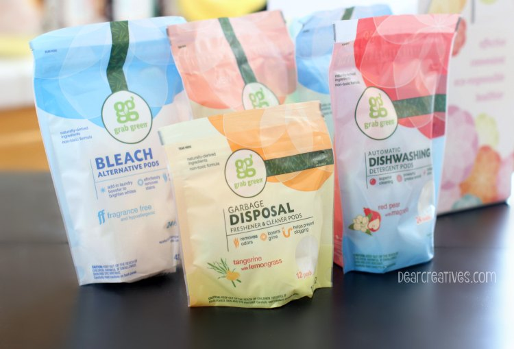Cleaning Products Grab Green product review and how they worked in our home.