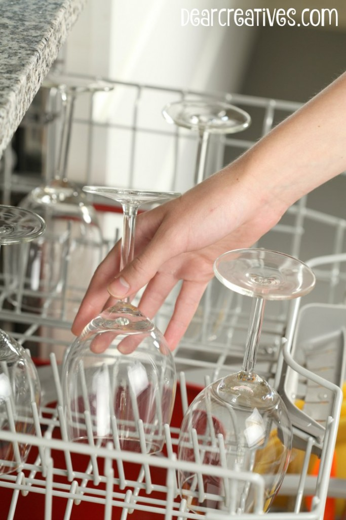 Cleaning Supplies - Emptying the dishwasher