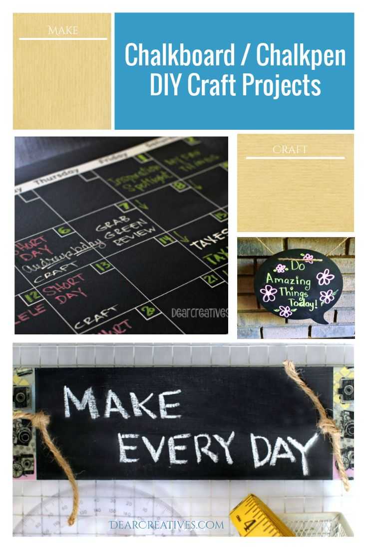 DIY Projects: Chalkpen Erasable Chalkboard And Chalkmarker Ideas
