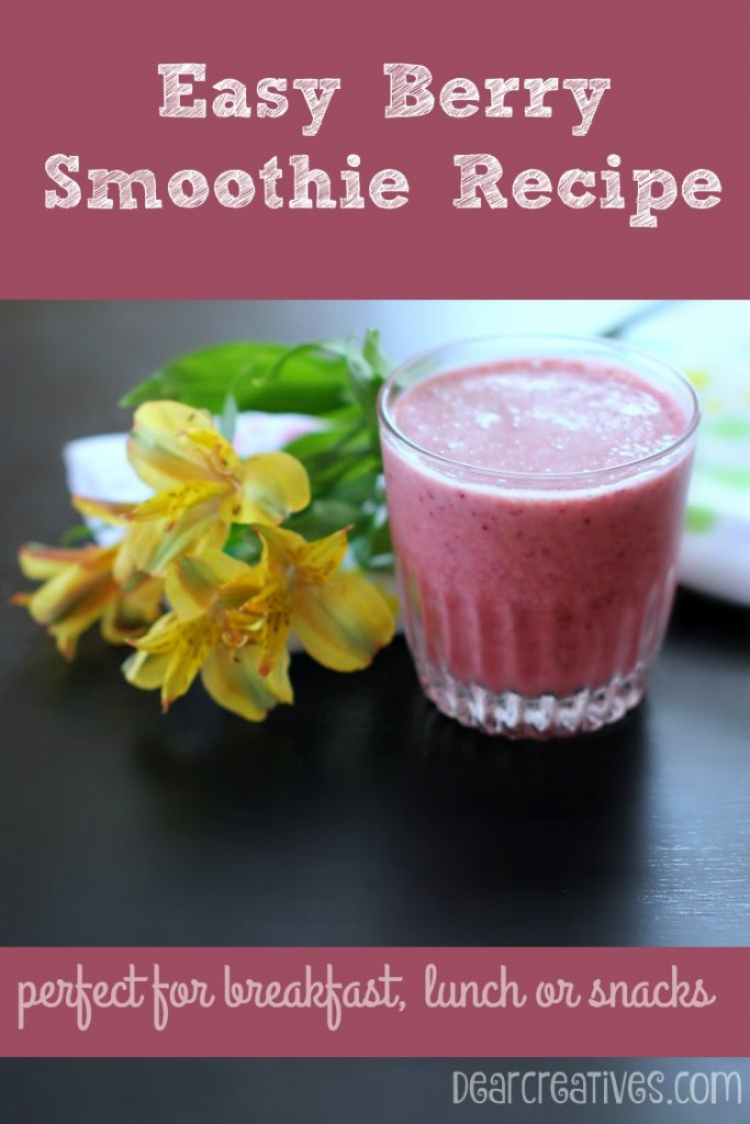 Drink Recipes | Easy Berry Smoothie Recipe Perfect smoothie recipes for breakfast, lunch or snacks.