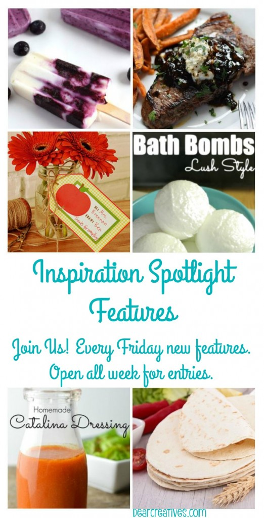 Linkup Party |Linky Party Inspiration Spotlight Features DearCreatives.com
