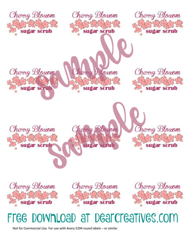 easy diy Projects Cherry Blossom Sugar Scrub Printable Sample With Overlay