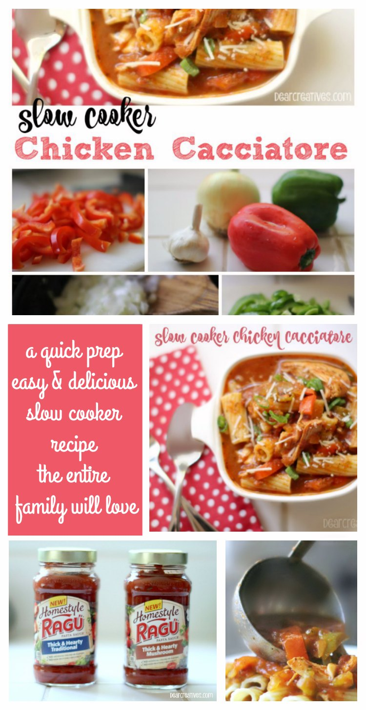 Easy Recipes Slow Cooker Chicken Cacciatore Ragu Recipes